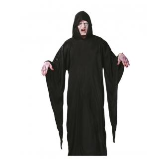 Túnica negra muerte con capucha