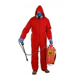 """""""Mono rojo con capucha """"fumigador"""""""