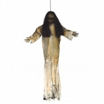 Colgante muñeca oscura con luz 90 cms.