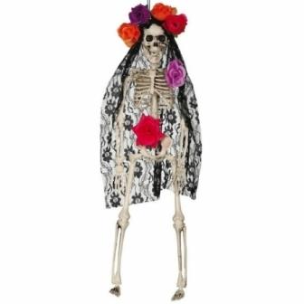 Colgante esqueleto con mantilla 40 cms.
