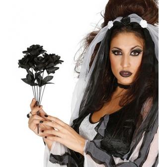 Ramo rosas negras 35 cms.