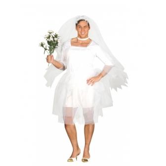 Disfraz de novia para hombre