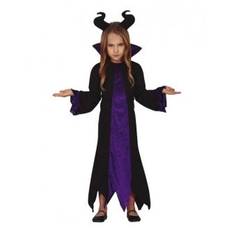 Disfraz Diablesa lila para niña
