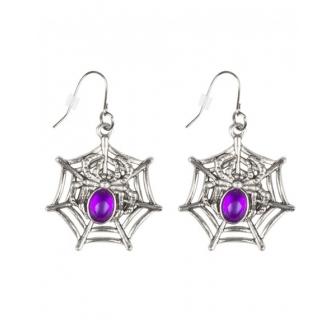 Pendientes araña púrpura