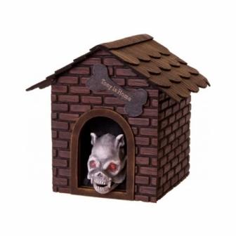 Caseta de perro asesino con luz y sonido