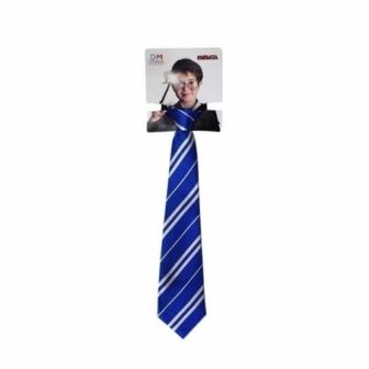 Corbata azul mago