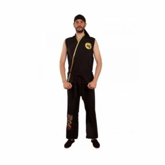 Disfraz Karateka negro adulto
