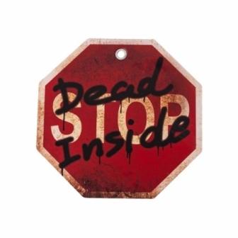 Cartel Stop muerte en el interior