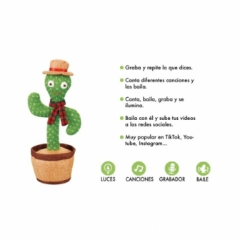 Cactus Bailarín con grabador y musicas