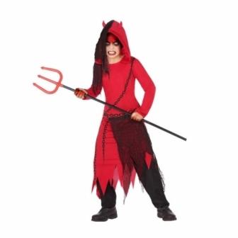 Disfraz Demonio con capucha infantil