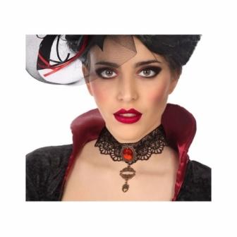 Collar Halloween con perla roja
