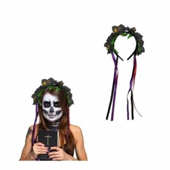 Diadema Flor halloween negra