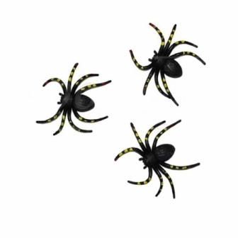 Blister 3 arañas lunares amarillos
