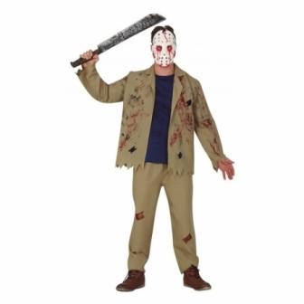 Disfraz asesino con máscara...