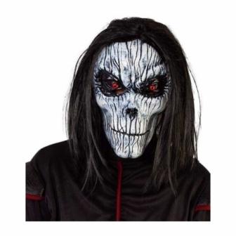 Máscara Esqueleto poseido con peluca