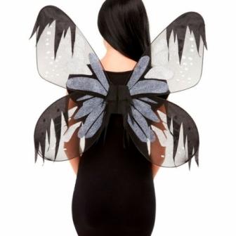 Alas de mariposa oscura 65 cms.