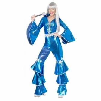 Disfraz Disco dream azul para mujer