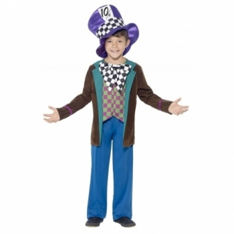Disfraz de Sombrerero a cuadros infantil