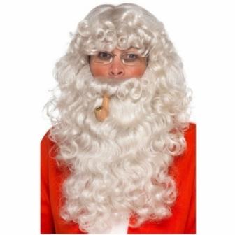 Kit Papa Noel:peluca+barba+pipa+gafas