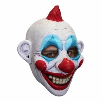 Máscara Payaso Cresta Roja Látex