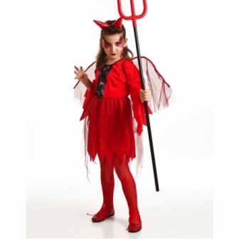 Disfraz Demonia Roja para niña