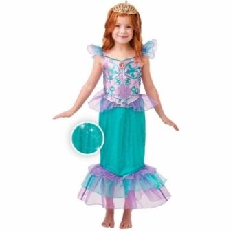 Disfraz Ariel Glitter/Sparkle delux niña