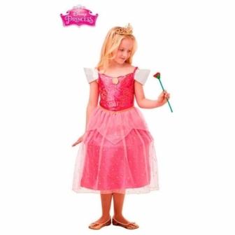 Disfraz Bella Durmiente Glitter DLX niña