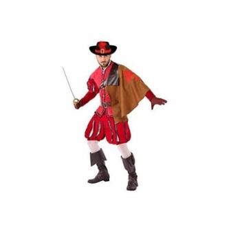 Disfraz de Mosquetero rojo para hombre
