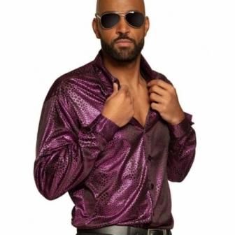 Camisa Disco morada Funky