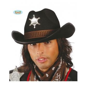 Sombrero Sheriff Fieltro negro