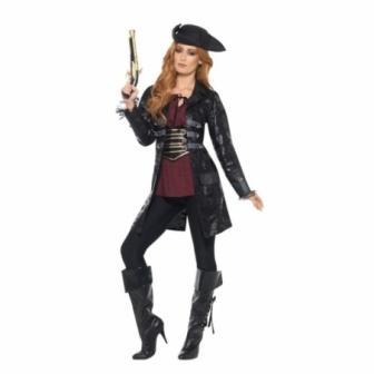 Chaqueta Negra Pirata para mujer