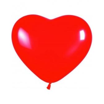Bolsa 50 Globos Corazón Rojo