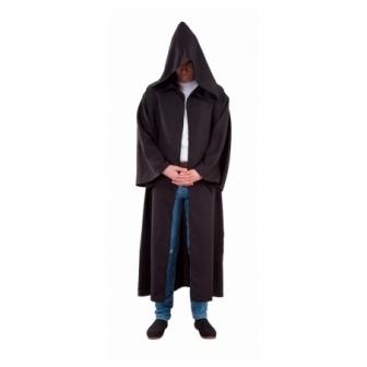 Túnica negra con capucha  adulto