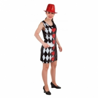Disfraz Crupier Lentejuelas para mujer