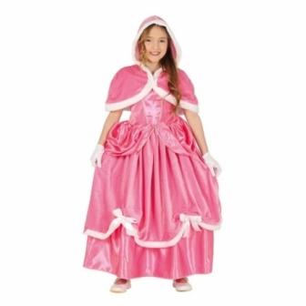 Disfraz Princesa rosa con capucha niña