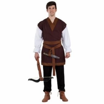 Casaca medieval marrón para hombre