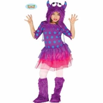 Disfraz monstruita lila infantil