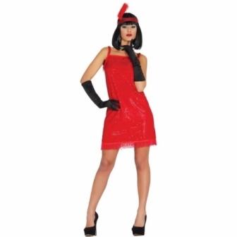 Disfraz Charleston rojo adulto