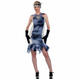 Disfraz Charleston azul para mujer