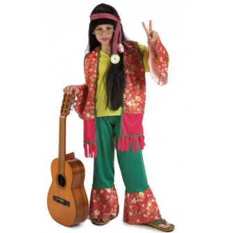 Disfraz Hippy Lujo Niño
