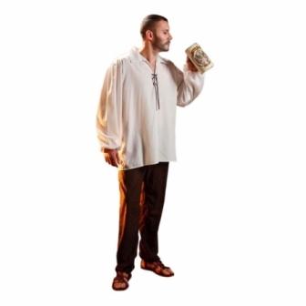 Camisa Medieval Blanca adulto