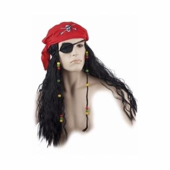 Pañuelo Y Peluca Pirata