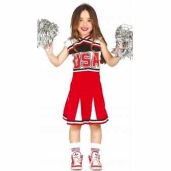 Disfraz Cheerleader animadora niña