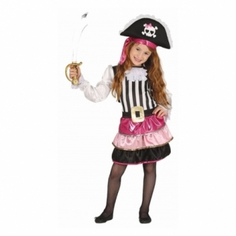 Disfraz Pirata Rosa para niña
