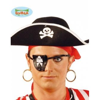 Par Pendientes Pirata Pvc Dorados