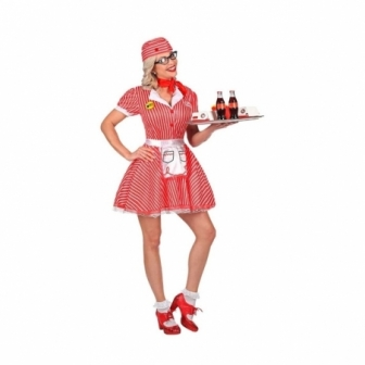 Disfraz Camarera años 50 para mujer