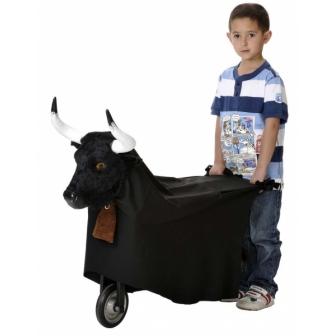 Carro Metálico Con Cabeza Toro Infantil