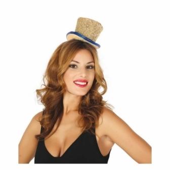 Chistera mini sombrero Oro brillante