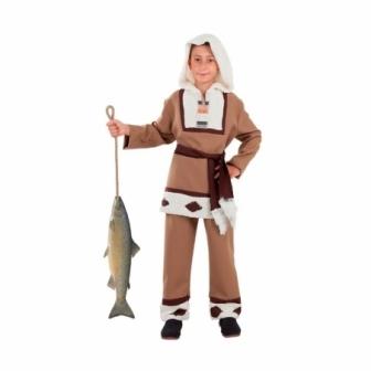 Disfraz Esquimal marrón infantil