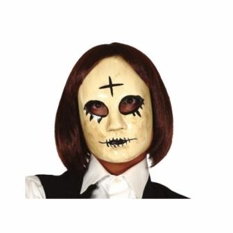 Máscara mujer con cruz pvc